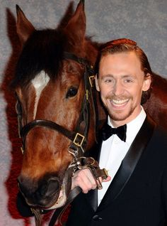 Tom and Joey the horse. CUTENESS OVERLOAD