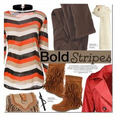 """Bold Stripes"" by oshint ❤ liked on Polyvore featuring Woolrich and I Love Mr. Mittens"