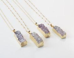 Items similar to Long Aqua Druzy Necklace, Large Turquoise Natural Stone Pendant, Ocean Geode, Layering Jewelry, Beach Inspired on Etsy Geode Necklace, Bar Necklace, Arrow Necklace, Layered Jewelry, Amethyst Cluster, Purple Grey, Stone Pendants, Turquoise, Aqua