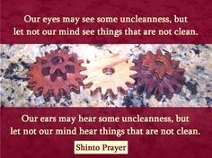 Shinto Prayer for a Clean Mind