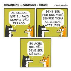 """337 curtidas, 8 comentários - Devaneios com Sigmund e Freud (@devaneioscomsigmundefreud) no Instagram: """"Pessoas que não se ajudam. #tirinhas #charge #quadrinhosindependentes #quadrinhos #hq #comics"""""""