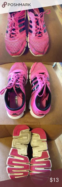 Pink adidas climacool sneakers. Hot pink adidas climacool sneakers. Non-marking. Size 7. Adidas Shoes Sneakers