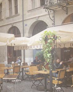 Cafe in Geneva Switzerland Most expensive lunch ever had was at a cafe like this in Geneva with good friends.
