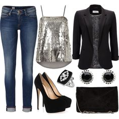 """""""Spice it up with sequins"""" by emmafazekas on Polyvore"""