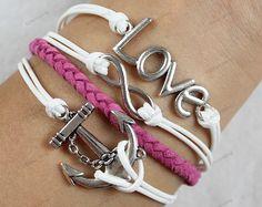 silver lovebracelets infinite bracelets by lifesunshine, $7.99
