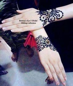 Arabic style henna mehndi designs pics for wedding and party