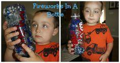 fireworks bottle via Little Bins for Little Hands