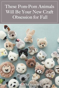 Heartwarming Happy Adorable Three words that come to the mind for Japanese maker Tsubasa Kuroda a k a trikotri as she goes by online in thinking about her craft of specialty pom pom animals marthastewart diyideas crafts - New Crafts, Cute Crafts, Creative Crafts, Crafts To Make, Crafts For Kids, Arts And Crafts, Crafts For Sale, Craft Ideas To Sell Handmade, Teen Girl Crafts