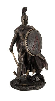 Amazon.com - Leonidas Spartan King with Sword & Shield Statue Sculpture -