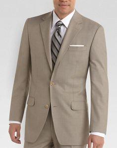 Michael Kors Tan Sharkskin Modern Fit Suit