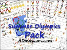 FREE Summer Olympics Printables – Writing, Puzzles, Counting, Sorting and Tot School, Summer School, School Fun, Olympic Idea, Olympic Games, Olympic Crafts, Learning Time, School Themes, School Ideas
