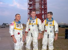 The Apollo 1 Crew, January 27, 1967 - Weeks before an accident during tests would cause their deaths