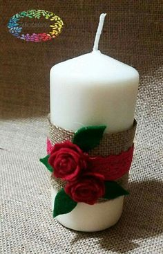 Candela natalizia romantica...