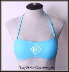 Just in time for spring!! We are so excited to add our newest item, monogrammable bandeau swimsuit tops.  www.SassySouthernGals.storenvy.com We are offering 7 different color bandeaus so that they can be paired easily with any swimsuit bottom or even your favorite pair of shorts. TOO CUTE!! Monogrammed Gift |Wedding Gift | Birthday Gift | Destination Wedding | Bachelorette Gift | Bridesmaid Gift | Corporate Gift | Logo | Family Vacation | Lake| Beach| Swim | Pool