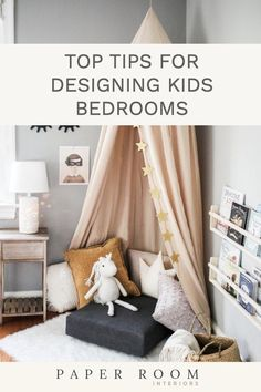 10 top tips for designing kids bedrooms. These must have items will create a beautful and practical space with room to grow. Reading Nook Kids, Childrens Reading Corner, Children Reading, Free Reading, Kids Room Design, Playroom Design, Kid Playroom, Children Playroom, Kids Bedroom Designs