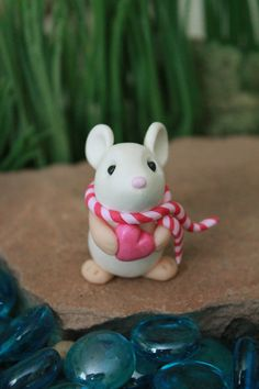 La Saint-Valentin polymère argile souris souris par GnomeWoods
