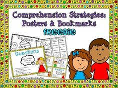 Comprehension Strategies: Posters & Bookmarks {FREEBIE}