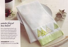 Winter Forest Tea Towel, featured in the Winter issue of Stitch a great sewing craft magazine. Christmas Tea, Christmas Sewing, Christmas Quilting, Christmas Things, Homemade Christmas, Sewing Crafts, Sewing Projects, Sewing Tips, Sewing Ideas