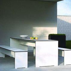 Riva Set Tisch und 2 Bänke - Gartentische - Online kaufen im Proformshop.com