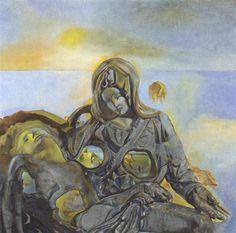 Pieta, 1982 by Salvador Dali. Expressionism, Surrealism. religious painting