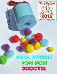 (FSPDT): Pom Pom Shooter- Very Best Kids Activities of 2013 Blog Hop ~kid activities ~ rainy day fun ~ toddler activities ~ best of the best