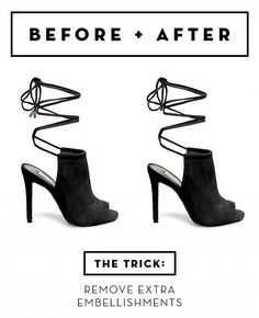 Take any pair of lace-up heels and do this 10-second DIY to make them look designer.