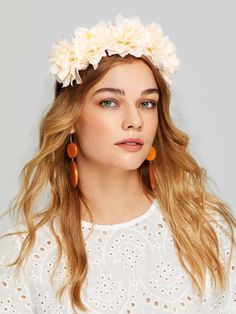 Shop Flower Decorated Headband at ROMWE, discover more fashion styles online. Flower Hair Accessories, Wedding Accessories, Women Accessories, Romwe, Headband Hairstyles, Wedding Hairstyles, Fashion News, Fashion Outfits, Stylish Outfits