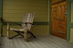 Stay classy with this Whiskey Barrel Adirondack Chair