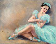 Es  una bailarina  !!!! , me gustan  las bailarinas  ,pues yo  bailé ballet .-