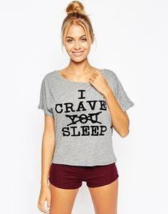ASOS I Crave Sleep Tee & Short Pyjama Set
