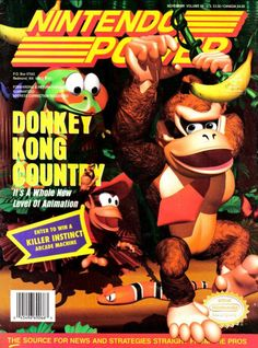 RIP Nintendo Power: Our 10 Favorite Magazine Covers. <-- My grandma was the one that had the subscription, so she could show us all the cool moves when we stayed at her house! Classic Video Games, Retro Video Games, Video Game Art, Gaming Magazines, Video Game Magazines, Super Nintendo, Donkey Kong Country, Retro Videos, Mario And Luigi