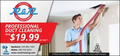 Take advantage of our professional Duct Cleaning special offer!