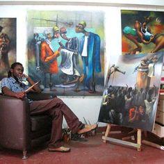 Artagence Peintre Kenya - Boniface Maina