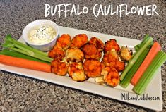 How to make the YUMMIEST version of Buffalo Cauliflower!! PINNING IMMEDIATELY! <3 Step by step directions - and video showing how! #DairyFree #GlutenFree #Vegan #Yummy