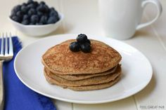 These quick, easy, and delicious Brain Booster Pancake Recipe is high in protein, fiber, and omega - the perfect start to your child& day! Super Healthy Kids, Healthy Meals For Kids, Kids Meals, Healthy Recipes, Healthy Breakfasts, Vegetarian Recipes, Breakfast For Kids, Breakfast Recipes, Pancake Recipes