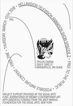 "hellavisiontv: "" toomanydesign: ""Peter Steineck "" Episode 3 Screening in Minneapolis, MN "" Buch Design, Art Design, Layout Design, Typography Inspiration, Graphic Design Inspiration, Graphic Design Posters, Graphic Design Illustration, Typography Poster, Typography Design"