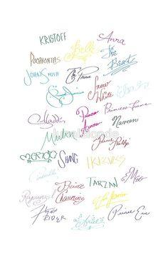 Royal Autographs - Disney Phone Case Disneyland Walt Disney World Walt Disney, Cute Disney, Disney Magic, Disney Couples, Disney And Dreamworks, Disney Pixar, Jack Frost, Disney Signatures, Disney Parque
