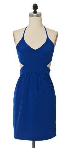 Tied Up Blue Dress