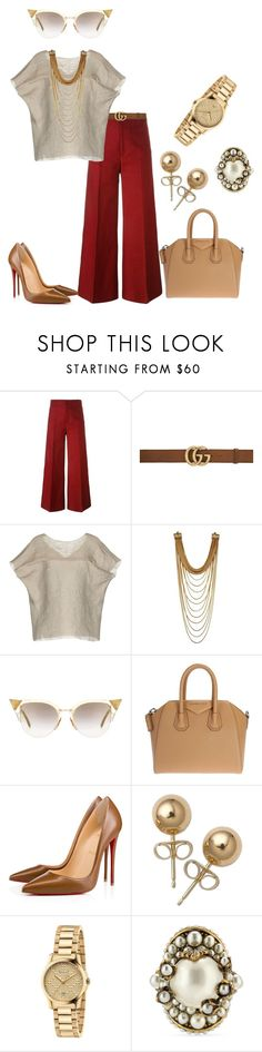 """""""Untitled #277"""" by iamchictrend on Polyvore featuring Isabel Marant, Gucci, Marni, Fendi, Givenchy, Christian Louboutin and Bling Jewelry"""