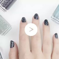 diagonal drybrush by essie - deep, dark, and mysterious. this diagonal drybrush nail art design adds new layers to your fall look.