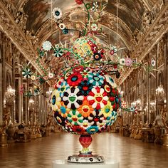 Takashi Murakami: Flower Matango, 2001 – 2006 © Takashi Murakami/Kaikai Kiki Co., Ltd All rights reserved. Photo: Cedric Delsaux Hall of Mirrors / Château de Versailles Superflat, Jeff Koons, Arte Pop, Versailles, Murakami Flower, Art Basel, Herbert List, Modern Art, Contemporary Art