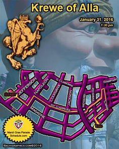 KREWE OF ALLA...STEPHEN RUE KING January 31, 2016  New Orleans Mardi Gras