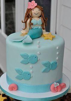 Mermaid cake and cupcake tower.