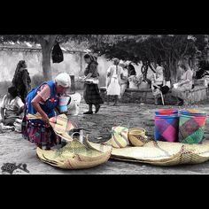 #Vendedora de petates y canastos de palma, #Oaxaca #Mexico #fotografia oaxaca