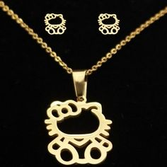 Cute Bear Brand Lovely Cat Pendant Necklace Fashion Jewelry Sets Stainless Steel Plating Cute Kitten Earrings For Women Gift //Price: $13.51 & FREE Shipping // World of Hello Kitty https://worldofhellokitty.com/product/cute-bear-brand-lovely-cat-pendant-necklace-fashion-jewelry-sets-stainless-steel-plating-cute-kitten-earrings-for-women-gift/    #sanrio