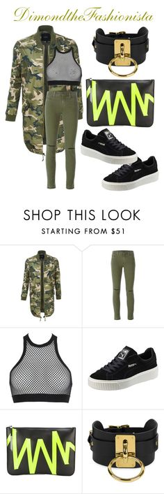"""""""Airport Attire ✈️"""" by dimondthefashionista ❤ liked on Polyvore featuring LE3NO, J Brand, Dsquared2, Puma, Christopher Kane and Zana Bayne"""