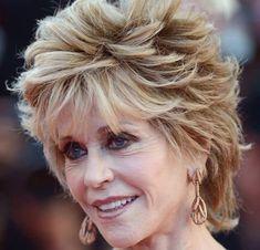 Spectacular Jane Fonda Hairstyles Shaggy and Curly Hair Loose Curly Updo, Curly Hair Updo, Haircuts For Curly Hair, Medium Shag Haircuts, Short Shag Hairstyles, Hairstyle Short, Layered Hairstyles, Bed Head Foxy Curls, Jane Fonda Hairstyles