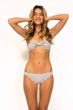bf3f1dd659f25 Marysia Antibes bikini top in light grey Light Blue Bikini