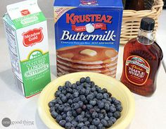 gotta try these ... with cast iron skillet (info on that here, too) Blueberry pancakes