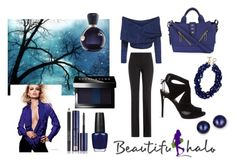 """""""Dark Blue"""" by classicstyle4u ❤ liked on Polyvore featuring KG Kurt Geiger, Michael Kors, Kenzo, Bobbi Brown Cosmetics, OPI, Lacoste, Estée Lauder and Kevin Jewelers"""